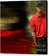 Tiger Woods Canvas Print by Marvin Blaine