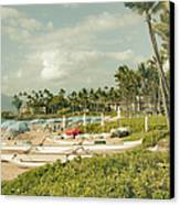 Wailea Beach Maui Hawaii Canvas Print by Sharon Mau
