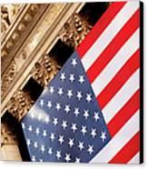 Wall Street Flag Canvas Print by Brian Jannsen
