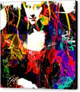 31x48 Mona Lisa Screwed - Huge Signed Art Abstract Paintings Modern Www.splashyartist.com Canvas Print