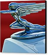 1936 Packard Hood Ornament Canvas Print
