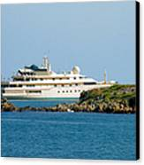 Antibes - Superyachts Of Billionaires Canvas Print by Christine Till