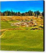 #4 At Chambers Bay Golf Course - Location Of The 2015 U.s. Open Championship Canvas Print by David Patterson