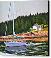 Bass Harbor Light Canvas Print by Karol Wyckoff