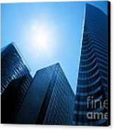 Business Skyscrapers Canvas Print
