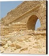 Caesarea Israel Ancient Roman Remains Canvas Print