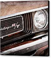 Dodge Challenger Rt Grille Emblem Canvas Print by Jill Reger