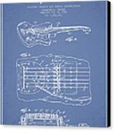 Fender Floating Tremolo Patent Drawing From 1961 - Light Blue Canvas Print by Aged Pixel