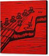 Fender Strat Canvas Print by William Cauthern