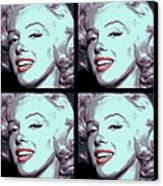 4 Frame Marilyn Pop Art Canvas Print