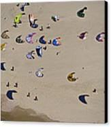 Kitesurfing, Tel Aviv Canvas Print by Ofir Ben Tov