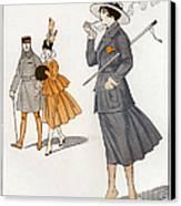 La Vie Parisienne  1916 1910s France Cc Canvas Print