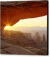 Mesa Arch Canvas Print by Tom Cuccio