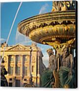 Paris Fountain Canvas Print by Brian Jannsen