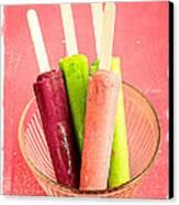 Popsicles Ice Cream Frozen Treat Canvas Print