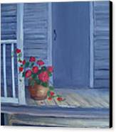 Porch Flowers Canvas Print by Glenda Barrett
