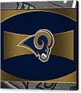 St Louis Rams Canvas Print by Joe Hamilton