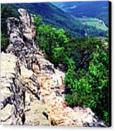 View From Atop Seneca Rocks Canvas Print by Thomas R Fletcher