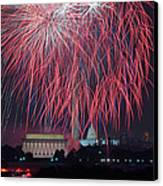 4th Of July Fireworks Canvas Print by Mark Whitt