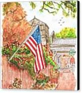4th Of July In Los Olivos, California Canvas Print by Carlos G Groppa