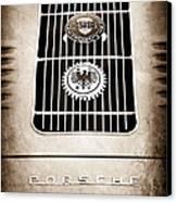1960 Volkswagen Vw Porsche 356 Carrera Gs Gt Replica Emblem Canvas Print