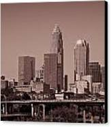 Charlotte Skyline Canvas Print by Jill Lang