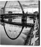 Clyde Arc Squinty Bridge Canvas Print by John Farnan