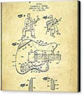 Fender Guitar Patent Drawing From 1960 Canvas Print by Aged Pixel