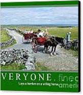 Old Irish Saying's Canvas Print