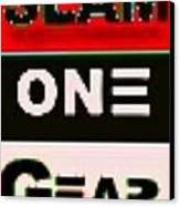 Slam One Gear Canvas Print