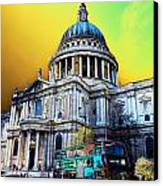 St Pauls Cathedral London Art Canvas Print by David Pyatt