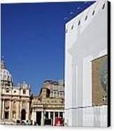 St Peter's Square. Vatican City. Rome. Lazio. Italy. Europe  Canvas Print