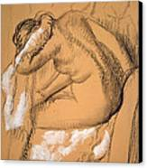 Woman Drying Herself  Canvas Print by Edgar Degas