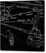 57 Chevy Neon Glow Canvas Print by Steve McKinzie