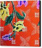 Colorful Batik Cloth Fabric Background  Canvas Print