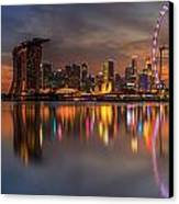 Singapore City Canvas Print