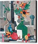 Still Life With A Guitar Canvas Print by Micheal Jones