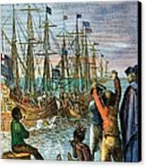 The Boston Tea Party, 1773 Canvas Print by Granger