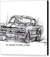 66 Shelby 350 Gt Canvas Print by David Lloyd Glover