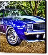 69 Chevrolet Camaro - Hdr Canvas Print by motography aka Phil Clark