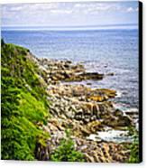 Atlantic Coast In Newfoundland Canvas Print