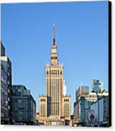 Palace Of Culture And Science In Warsaw Canvas Print
