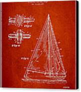 Sailboat Patent Drawing From 1938 Canvas Print by Aged Pixel