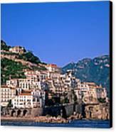 Amalfi Town In Italy Canvas Print by George Atsametakis