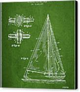 Sailboat Patent Drawing From 1938 Canvas Print