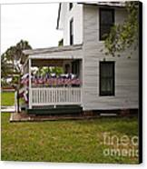 Ryckman House In Melbourne Beach Florida Canvas Print by Allan  Hughes