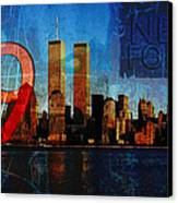 911 Never Forget Canvas Print by Anita Burgermeister