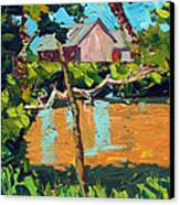 93 Degrees On The Eel Canvas Print by Charlie Spear