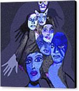 957 - Boom Doom Hallucination   Canvas Print by Irmgard Schoendorf Welch