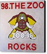 98.the Zoo Rocks Canvas Print by Donna Wilson